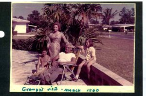 Happy times in Sunny Florida: Sansone's family: from left is his son Peter,his wife, Emily,his dad, Pat Sansone and his daughter, Maggie (Miami, Florida, 1960)