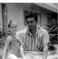 June 1957, Lenny with daughter Maggie