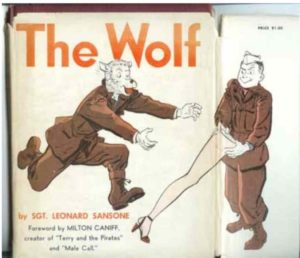 Here's the orginal dust jacket for The Wolf (published 1945)